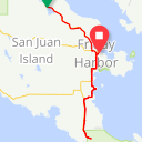 Map image of a Route from July  6, 2017
