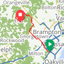 Map image of a Route from July  7, 2017