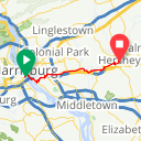 Map image of a Route from July  8, 2017