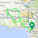 Map image of a Route from April  1, 2013
