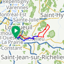 Map image of a Route from July  9, 2017