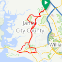 Map image of a Route from July 13, 2017
