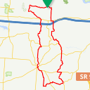 Map image of a Route from April  4, 2013