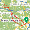Map image of a Route from July 17, 2017