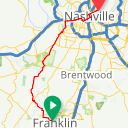 Map image of a Route from April  9, 2013
