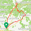 Map image of a Route from July 20, 2017