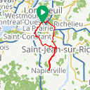 Map image of a Route from July 22, 2017
