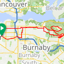 Map image of a Route from July 23, 2017