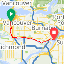 Map image of a Route from July 25, 2017