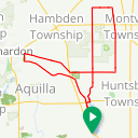 Map image of a Route from July 31, 2017