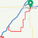 Map image of a Route from August  1, 2017