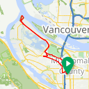 Map image of a Route from August  2, 2017