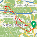 Map image of a Route from August  3, 2017