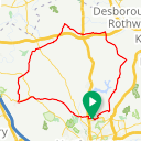 Map image of a Route from August  4, 2017