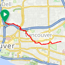 Map image of a Route from April 21, 2013