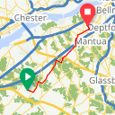 Map image of a Route from August  5, 2017