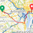 Map image of a Route from August  8, 2017