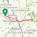Map image of a Route from August  9, 2017