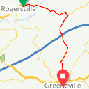 Map image of a Route from April 24, 2013