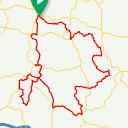 Map image of a Route from August 11, 2017