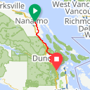Map image of a Route from August 18, 2017