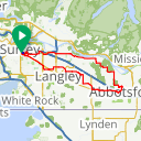 Map image of a Route from August 19, 2017