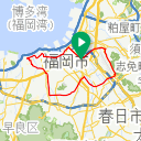 Map image of a Route from August 20, 2017