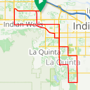 Map image of a Route from August 24, 2017