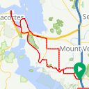 Map image of a Route from August 25, 2017