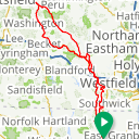 Map image of a Route from August 29, 2017