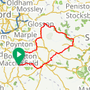 Map image of a Route from August 30, 2017