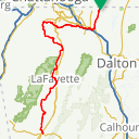 Map image of a Route from September  1, 2017