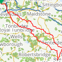 Map image of a Route from May  9, 2013