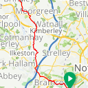 Map image of a Route from September  4, 2017