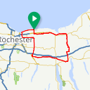 Map image of a Route from September  5, 2017