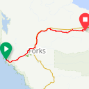 Map image of a Route from September  7, 2017