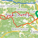 Map image of a Route from September 13, 2017