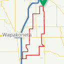 Map image of a Route from September 15, 2017
