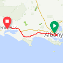 Map image of a Route from September 16, 2017