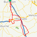Map image of a Route from September 21, 2017