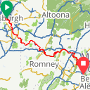Map image of a Route from September 22, 2017