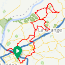 Map image of a Route from May 25, 2013