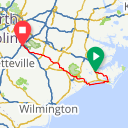Map image of a Route from October  1, 2017