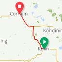 Map image of a Route from October  2, 2017