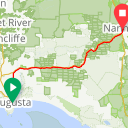 Map image of a Route from October  3, 2017