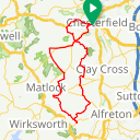 Map image of a Route from October  4, 2017