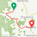 Map image of a Route from October  5, 2017