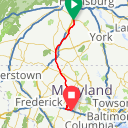 Map image of a Route from October  6, 2017