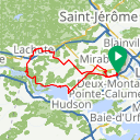 Map image of a Route from October  7, 2017
