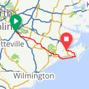 Map image of a Route from October  8, 2017